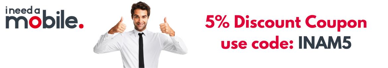 Ineedamobile discount coupon