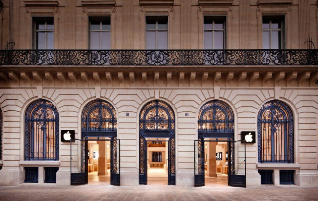apple store front paris
