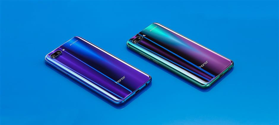 honor sleek design blue mid-range