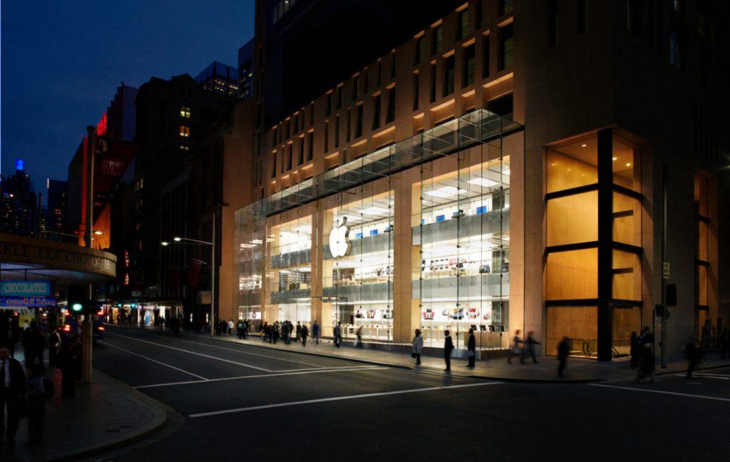 apple store front sydney