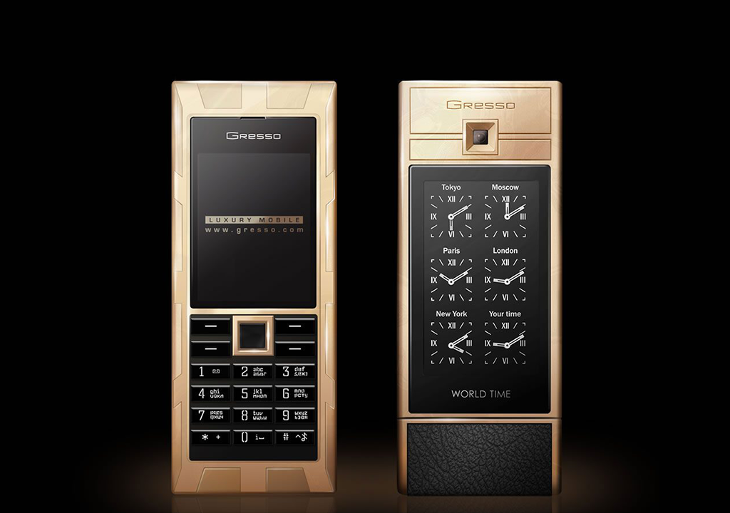 black gold phone