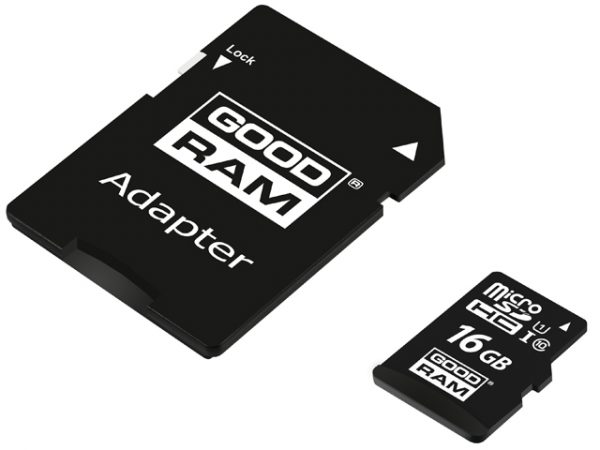 GOODRAM 16GB Micro SD Memory Card Class 10 with SD Adapter