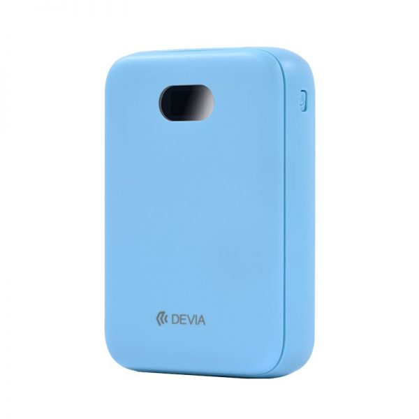 Devia - 10,000mAh Dual Port Digital LED Indicator Powerbank - Blue