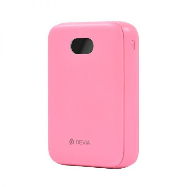 Devia - 10,000mAh Dual Port Digital LED Indicator Powerbank - Pink