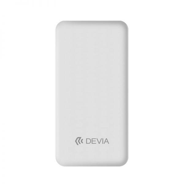 Devia - 10,000mAh Dual Port LED Indicator Powerbank - White