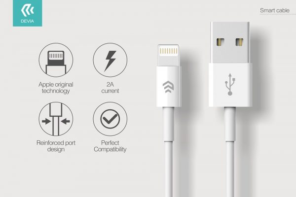 Devia - 1m (2.1A) USB to Non-MFi Lightning Cable - White