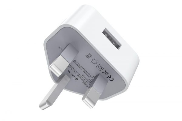 Devia - 2.1A USB 3-Pin UK Charging Plug - White