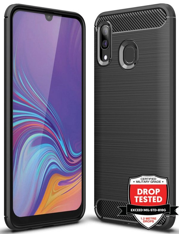 Carbon Air for Galaxy A40 - Black