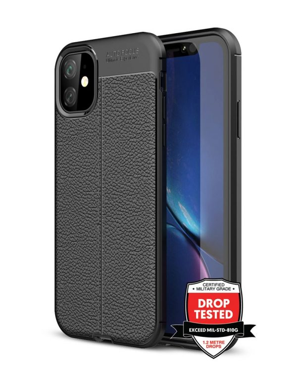 Leather Air for iPhone 11 - Black
