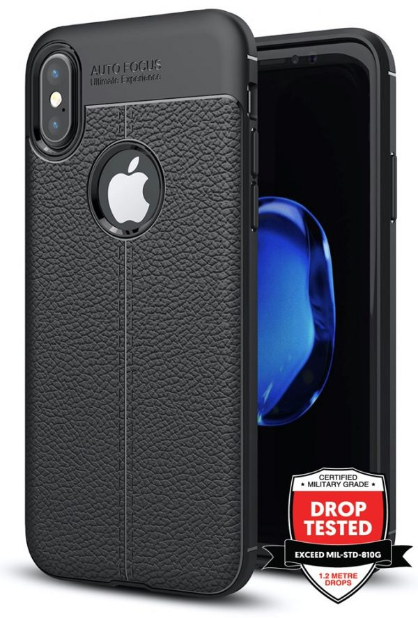 Leather Air for iPhone XS/X - Black