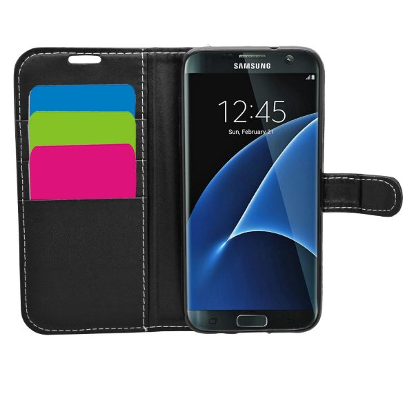 Wallet for Galaxy S7 Edge - Black
