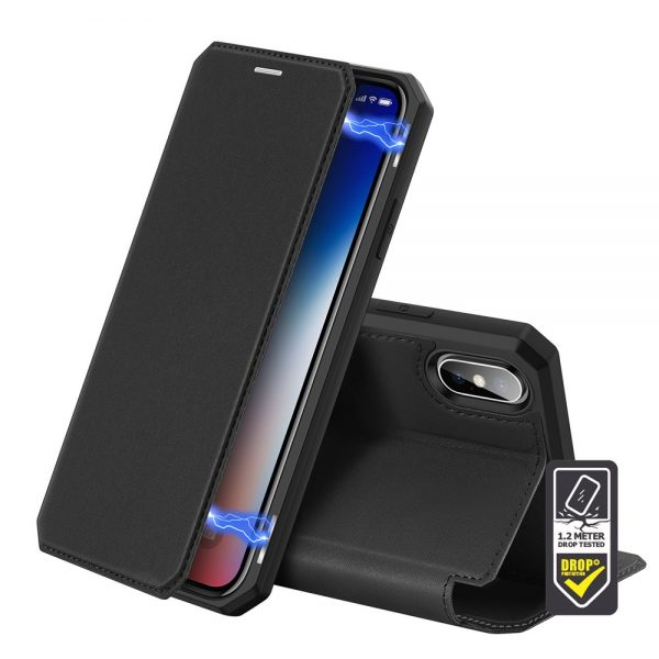 Dux Ducis - Skin X Wallet for iPhone XS Max - Black